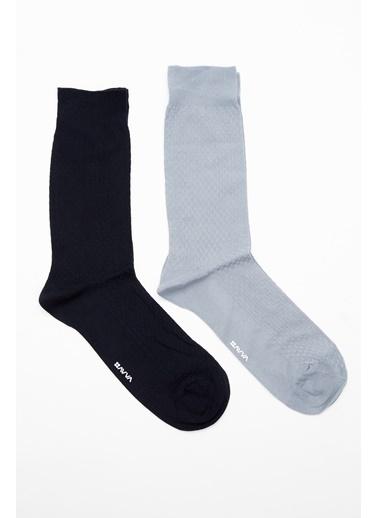 Avva 2'li Çorap Gri
